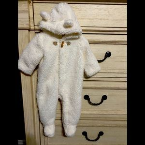 Janie and Jack One Piece Hooded Bear Faux Fur